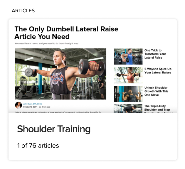 BodyFit Shoulder Training Article