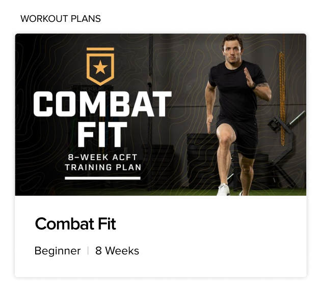 BodyFit Combat Fit Training Plan
