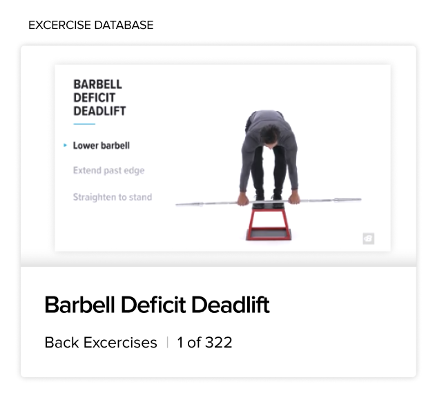 BodyFit Barbell Deficit Deadlift Excercise Database Article