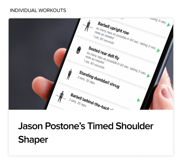 BodyFit Jason Postone's Timed Shoulder Shaper Individual Workout